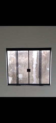 Janela de Blindex fumê 100x120 + kit para instalação  - Foto 3