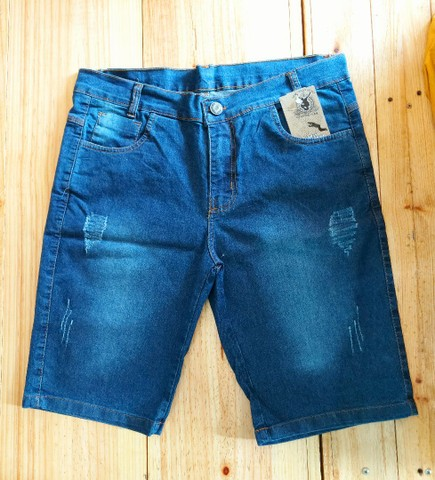Combo Bermuda Jeans mais Camiseta Osklen - Foto 3