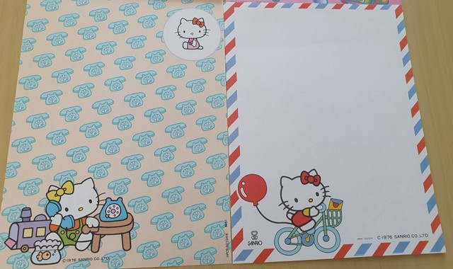 Coleção de Papel de Carta Hello Kitty 7 unidades - Foto 2