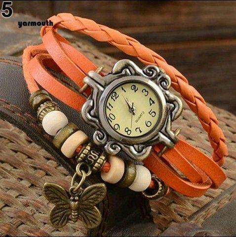 Relógio De Pulso Feminino Multicamadas Vintage - Foto 6