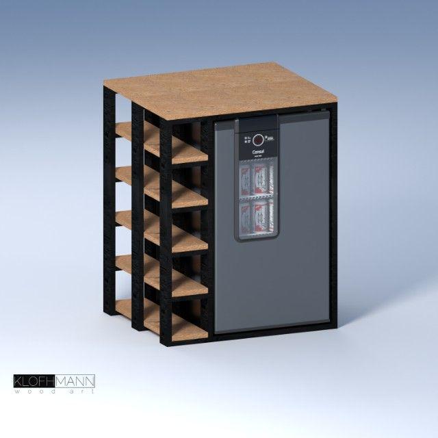 Aparador para Cervejeira Consul, personalizável para outros modelos, madeira Tauari - Foto 2