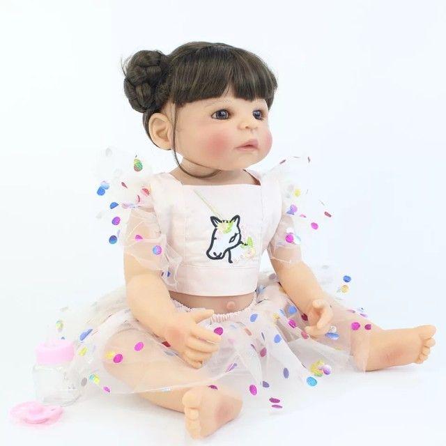 Boneca bebê reborn de silicone - Foto 2