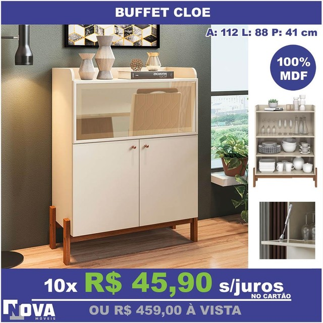 Buffet Cloe- 10x sem juros cartão + entrega
