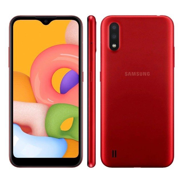 "Smartphone Samsung Galaxy A01 Core Dual Chip Android 10 Tela 5.3"" 32GB Câmera 8MP - Novo - Foto 4"