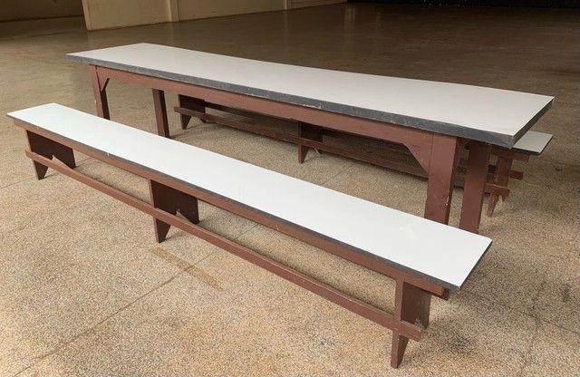 Conjunto mesa e 2 bancos  - Foto 2