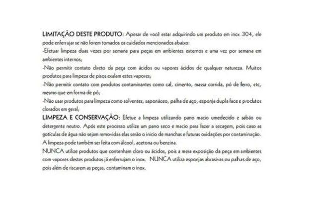 Puxador de Porta Inox 304 Polido 120cm 30x30x1200mm - Foto 4