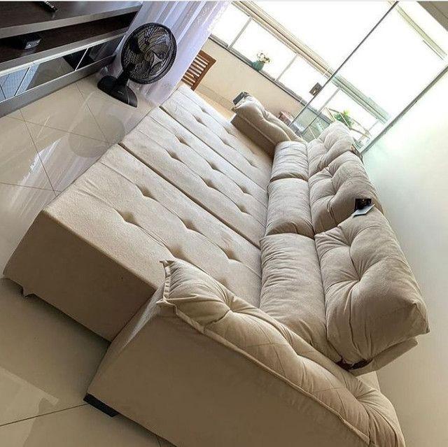 Sofás de luxo revestido na fibra - Foto 4