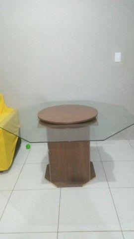 Mesa de vidro com tampa giratória  - Foto 2