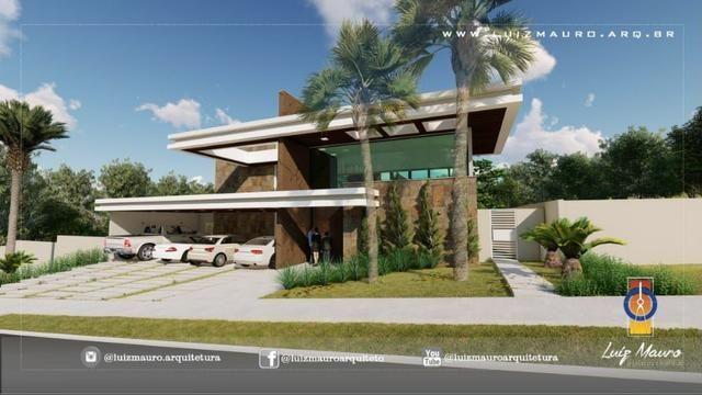 Condomínio Florais dos Lagos, casa Sobrado com 4 suites, em fase de construção - Foto 2