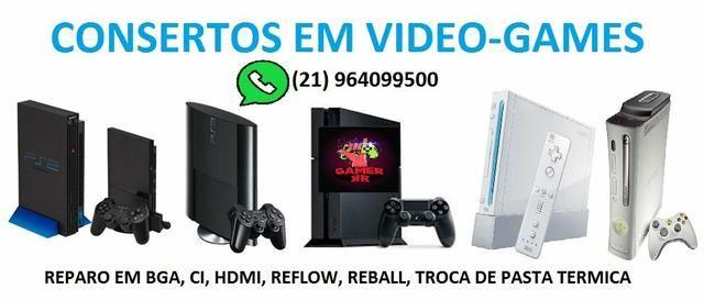 Conserto e manutenção de controle e vídeo games