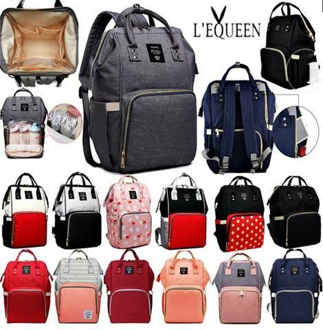 bb06f5a27 Bolsa Mochila Maternidade LeQueen Original