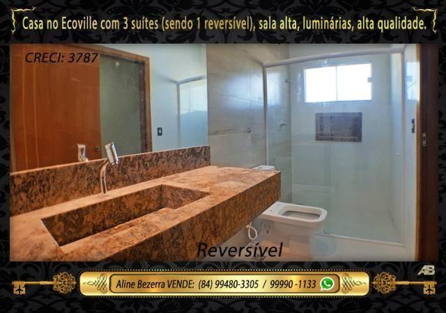 Financia, casa com 3 suítes no Ecoville, sombra, alta qualidade, venha conhecer - Foto 15