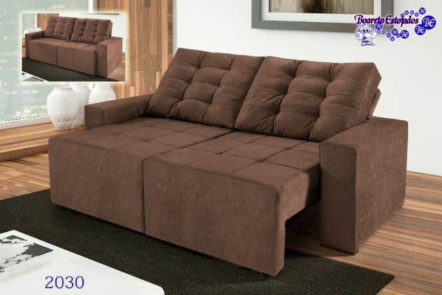 Sofá retrátil e reclinável Ref2030 Boareto #evk2030 - Foto 2