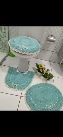 Jogo de banheiro em crochê - Foto 2