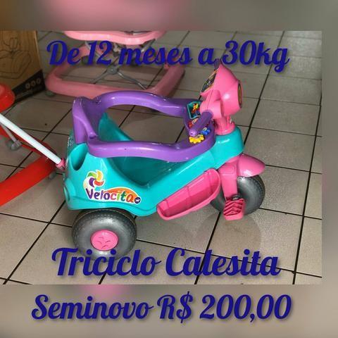 Triciclo Calesita Seminovo - De 12meses a 30kg - Lindissimo
