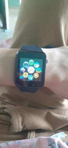 Relógio smartwatch A1 original touch bluetooth gear chip - preta