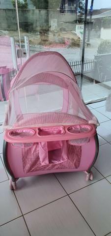 Vende-se berço portátil desmontável burigotto Rosa - Foto 4