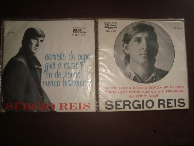 Sergio Reis, Lote com 2 compactos Vinil, Jovem Guarda