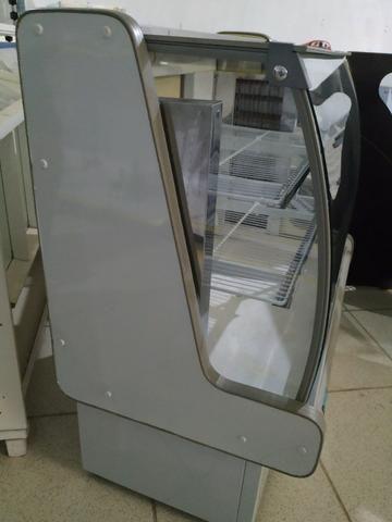 Balcão Polofrio para tortas, 1,20m, refrigerado 110v usado Frete Grátis - Foto 3