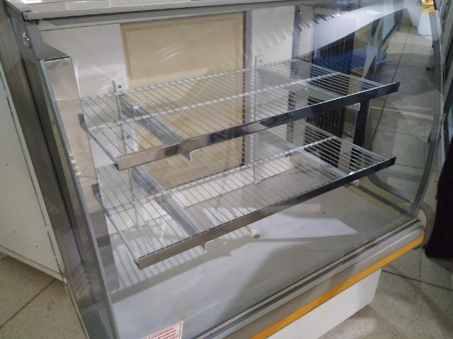 Balcão Polofrio para tortas, 1,20m, refrigerado 110v usado Frete Grátis - Foto 2