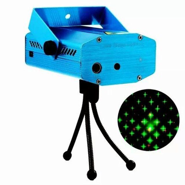Mini Laser Stage Lighting Projetor Holográfico Tripé - Foto 2