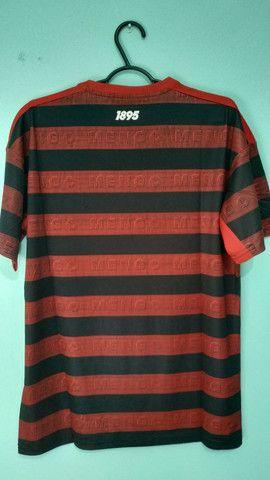 Camisa do Flamengo Rubro Negra Masculina 2019/20 - Foto 4