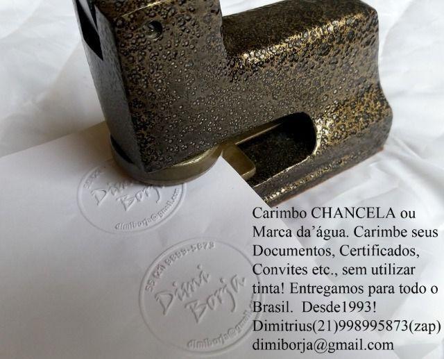 Carimbos Chancelas ou Marca D?Agua para documentos e insufilm - Foto 2