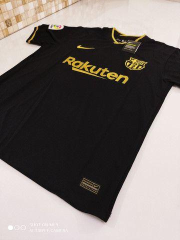 Camisa Barcelona Reserva Nike 20/21 - Tamanhos: P, M, G - Foto 2