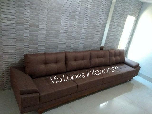 Sofa barcelona griffe de 3m aqui na Via Lopes Interiores wpp 62 9  * - Foto 2