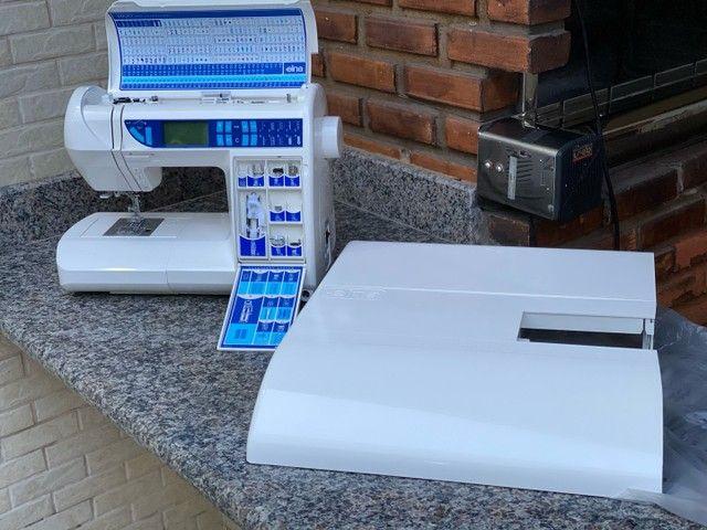 Máquina de costura Doméstica com pontos decorativos   - Foto 3