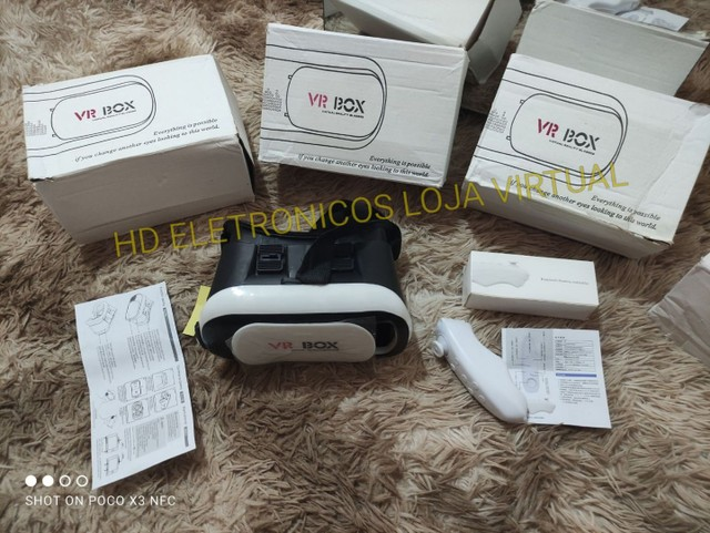 Óculos 3d Vr Box 2.0 Realidade Virtual Com Controle, pronta entrega