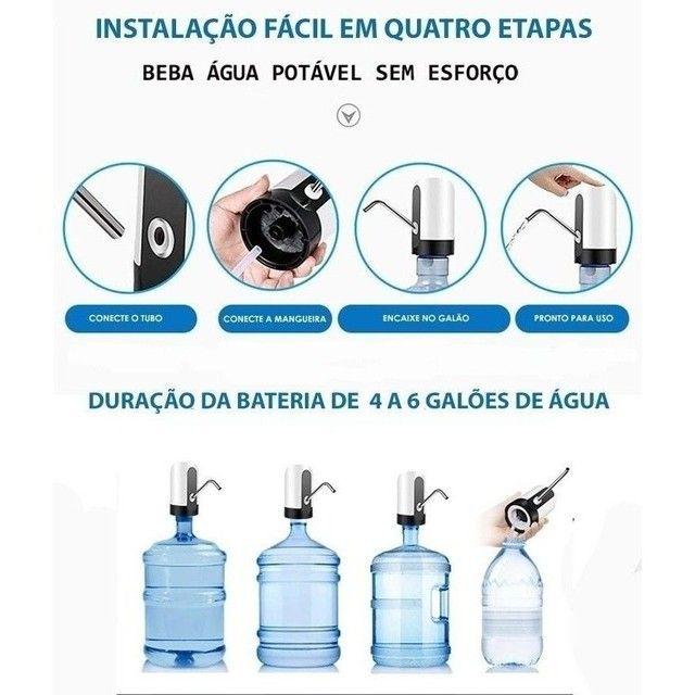 Bomba Elétrica Universal com Carregamento USB para Galão/Garrafão - Foto 3