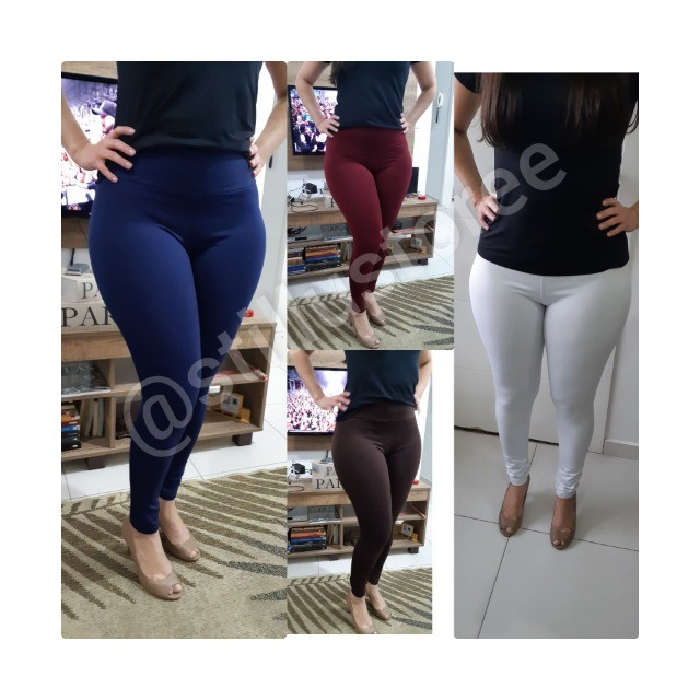 Legging Peluciada/Flanelada feminina  varias cores P ao GG e G1 ao G3 - Foto 3