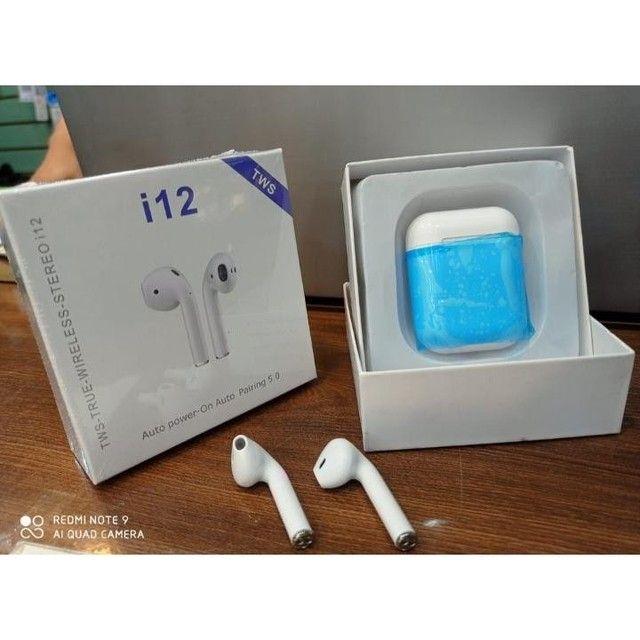 Fone I12 Bluetooth Touch 5.0 Conecta Com iPhone E Android - Foto 2