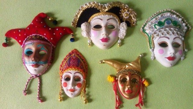 Coleção de mascaras Italianas em porcelana; - Foto 6