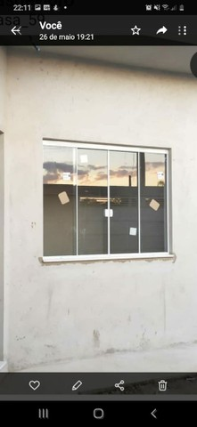 Janela de Blindex fumê 100x120 + kit para instalação  - Foto 4