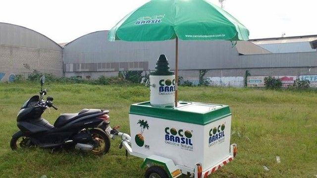 Carretinha de moto para água de coco