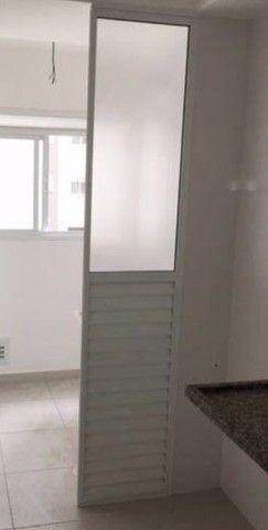 Divisória/porta em alumínio branco