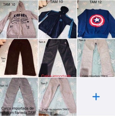 Vendo lote de roupas infantil tamanhos variados com 8 peças Usadas bem Conservadas