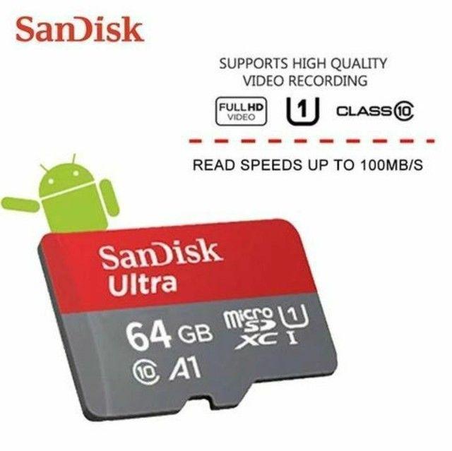 Cartão de memória micro SD SanDisk 32Gb/64gb/128Gb classe 10 Ultra original com adaptador - Foto 4