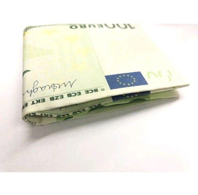 Carteira Estampada de Notas Estrangeiras Dólar/ Euro/ Real Guardar Cédulas Documentos  - Foto 6