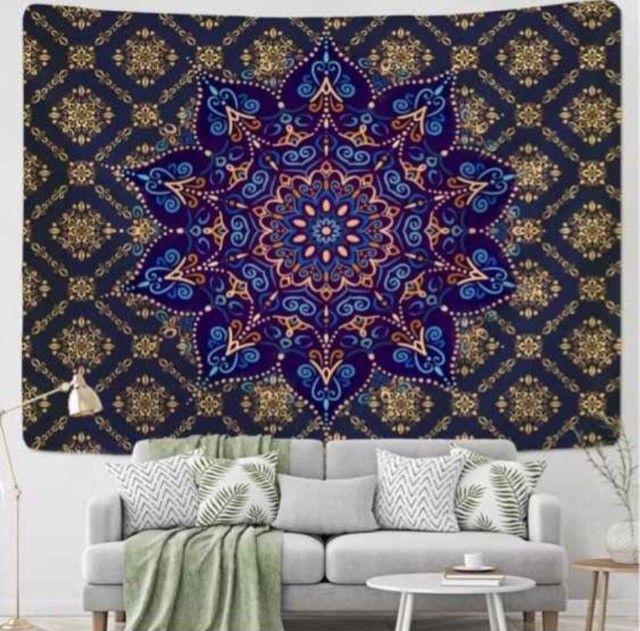 Tapete decorativo em tecido - Mandala da Alegria