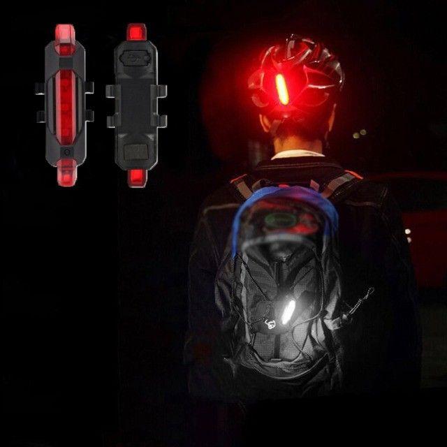 Luz de Aviso de Segurança para Bicicleta Bike Luz Traseira  - Foto 4