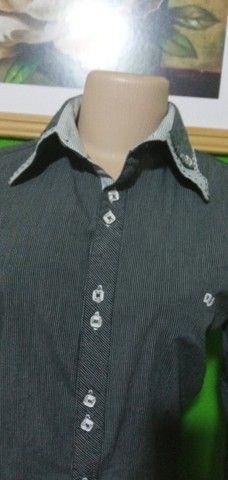 Camisa Feminina Manga Longa Listrada D´Jas - Tam. G - Foto 6
