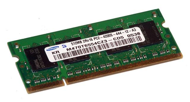 Memoria Samsung 512mb 2rx16 Pc2-4200s Ddr2 533mhz 200pin Cl4