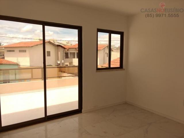 Casa duplex nova no centro do eusebio, 162 metros, 3 suítes, apenas 350 mil pra fechar - Foto 8