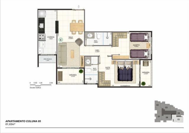 Apartamento 02 Quartos, Bairro Riviera, Lançamento na Planta - Foto 6