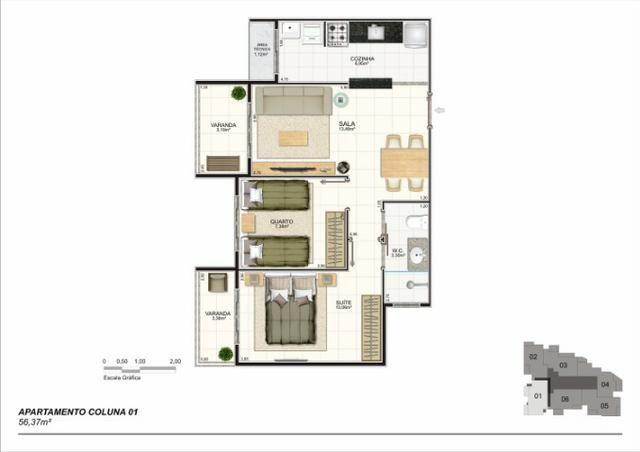 Apartamento 02 Quartos, Bairro Riviera, Lançamento na Planta - Foto 3