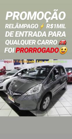 Super SHOWROOM! R$1MIL DE ENTRADA(HONDA FIT AUTOMÁTICO 2013)