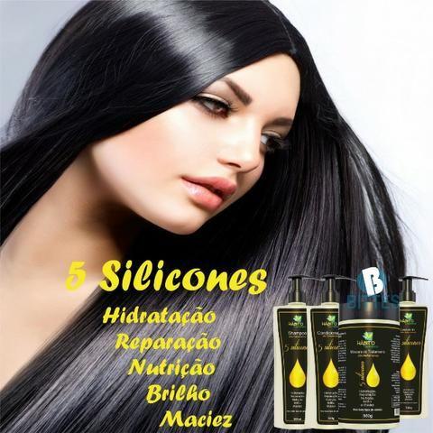Kit Reparação Nutrição Profunda 5 Silicones Bittes Hair (2) - Foto 4